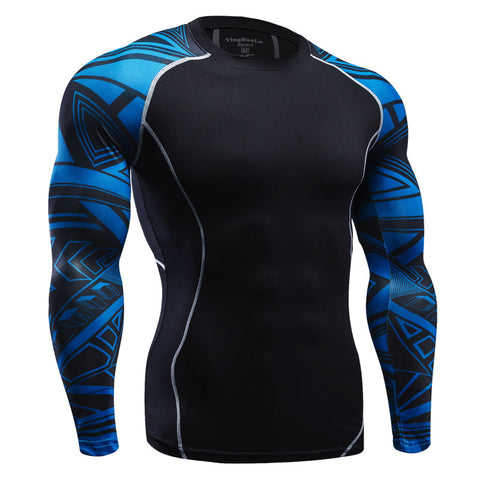 Bjj Rash Guard Blue No Gi Rashie