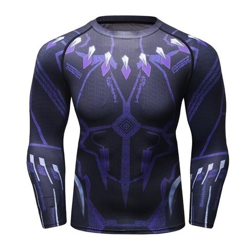 Bjj Rash Guard Black Panther