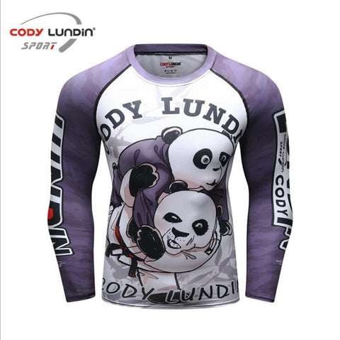 Long Sleeves Purple Panda Rashguard Codylundin