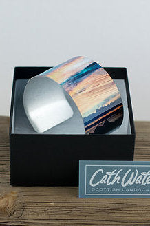 Cath Waters The Western Isles from Trotternish Isle of Skye Aluminium Bangle £26.95