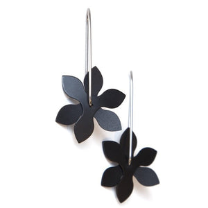 Anodized Earrings Propeller Point Black