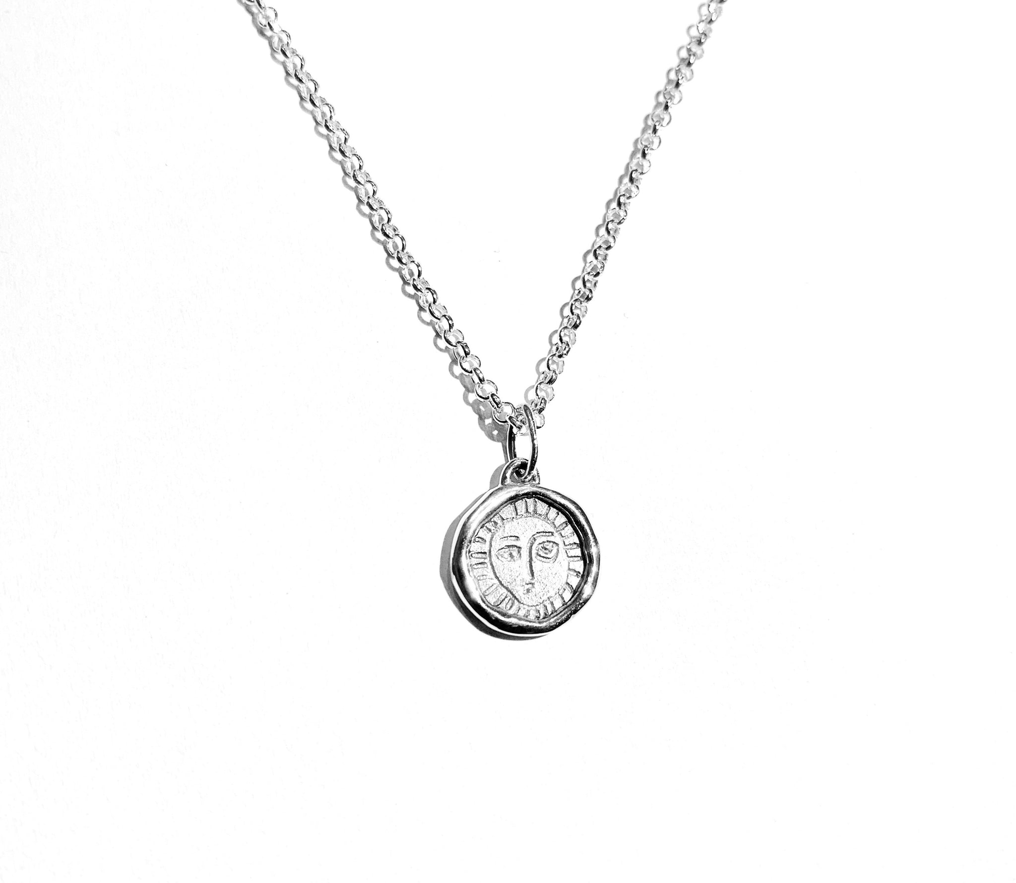 Picasso Silver Pendant Necklace