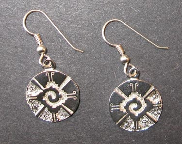 Galactic Butterfly (Hunab Ku) Earrings in Sterling Silver