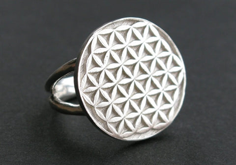 Flower of Life Ring in Sterling Silver