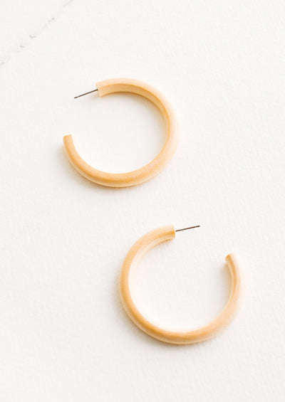 Bleached Maple Hoop Earrings