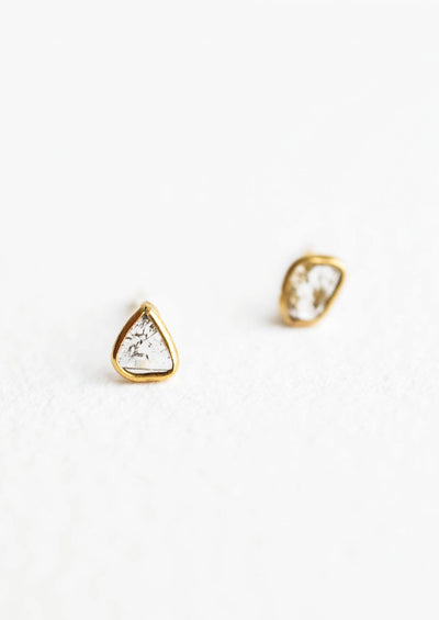 Diamond Slice Earrings