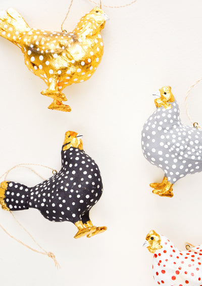 Spotted Hen Ornament