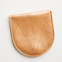 Geo Etched Leather Wallet