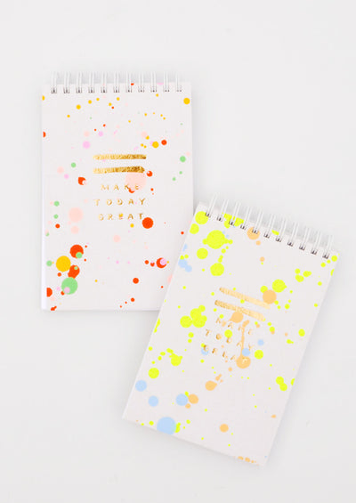 Splattered Jotter Spiral Notepad