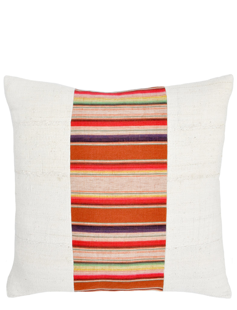 Striped Panel Pillow in Serape - LEIF