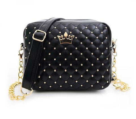 Designer Rivet Chain Shoulder Bag
