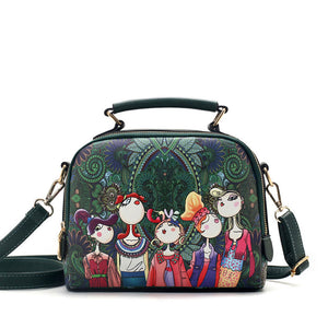 YQYDER 2018 designer luxury brand high quality cartoon handbag
