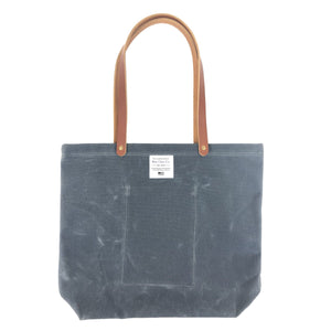 Waxed Canvas Market Tote, Charcoal