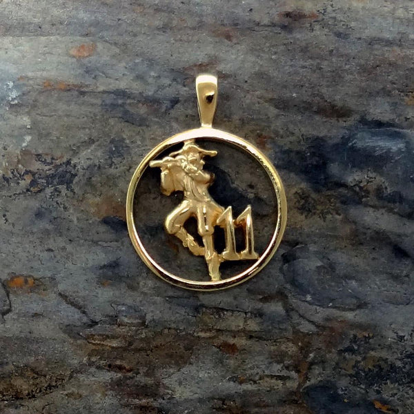 Christmas Charm, Eleven Pipers Piping handmade in Sterling or 14k Gold by All Animal Jewelry