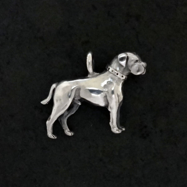 American Bulldog Pendant handmade in Sterling or 14k gold by Tosa Fine Jewelry