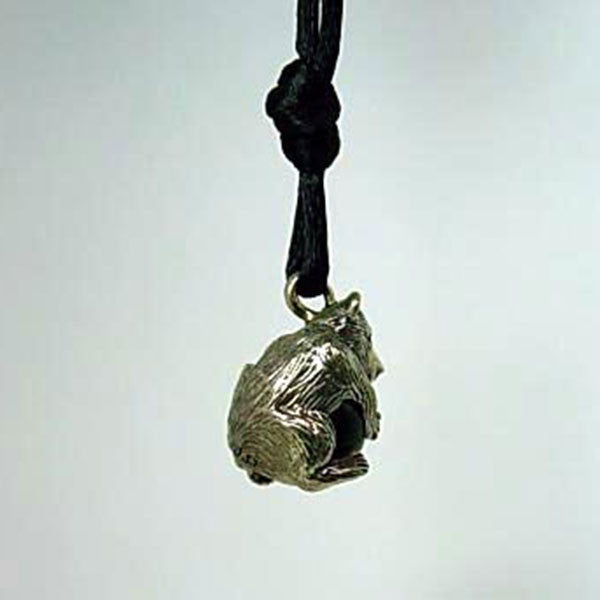 Bear Pendant Pawjama handmade in Sterling or 14k Gold by Tosa Fine Jewelry