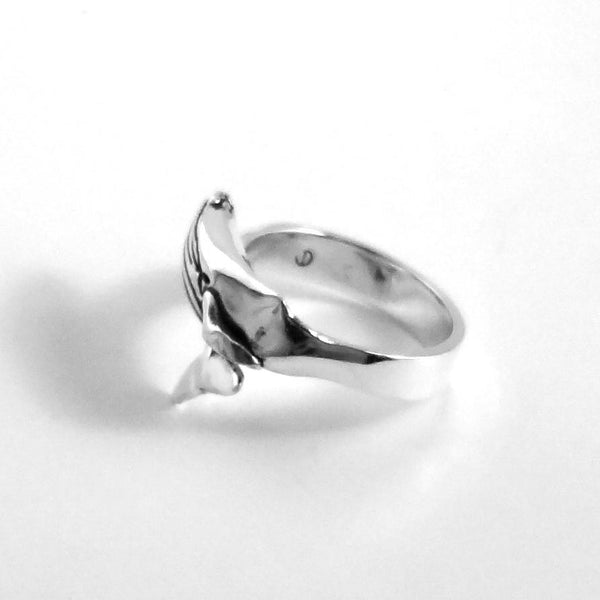 Humpback Whale Ring handmade in Sterling or 14k Gold by All Animal Jewelry