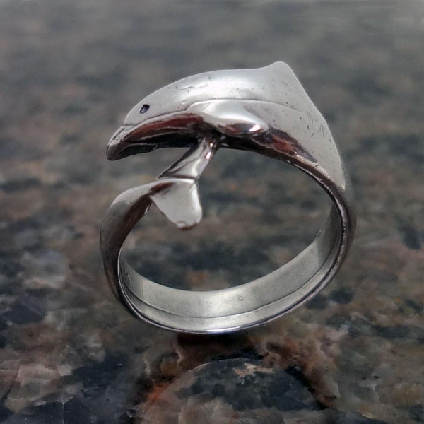 Dolphin Wrap Around Ring handmade in Sterling or 14k Gold by All Animal Jewelry