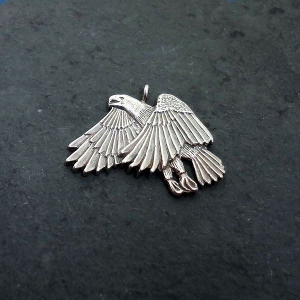 Eagle Pendant handmade in Sterling or 14k Gold by Tosa Fine Jewelry