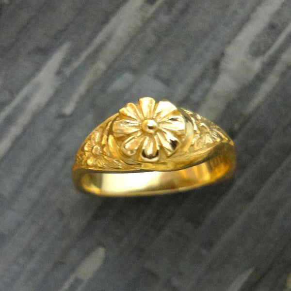 Flower Ring handmade in Sterling or 14k Gold by All Animal Jewelry