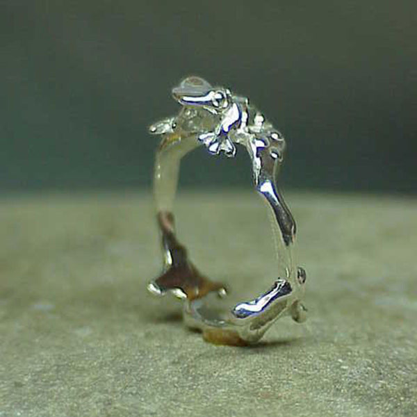 Toad Ring, Small, handmade in Sterling or 14k Gold by Tosa Fine Jewelry