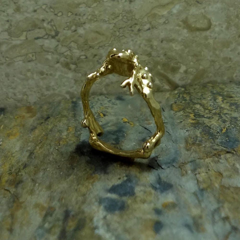 Warty Toad Ring handmade in Sterling or 14k Gold by All Animal Jewelry