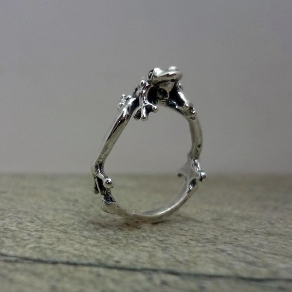 Toad Prince Ring handmade in Sterling or 14k Gold by All Animal Jewelry