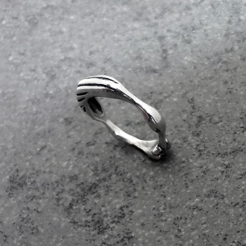 Heron Ring handmade in Sterling or 14k Gold by Tosa Fine Jewelry