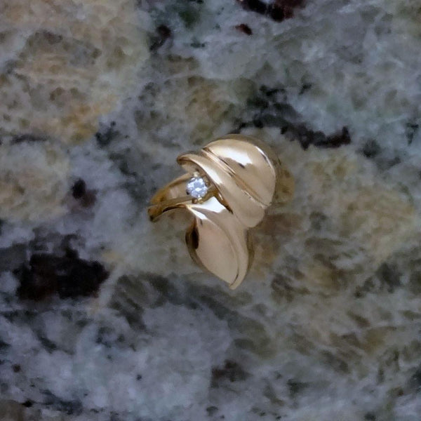 Leaf Ring handmade in Sterling or 14k Gold by All Animal Jewelry