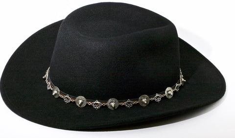 Custom Made Hat Band for Cowboy Hat - Wolf  Dream Catcher - Wholesale