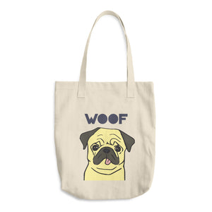 Pug Cotton Tote Bag