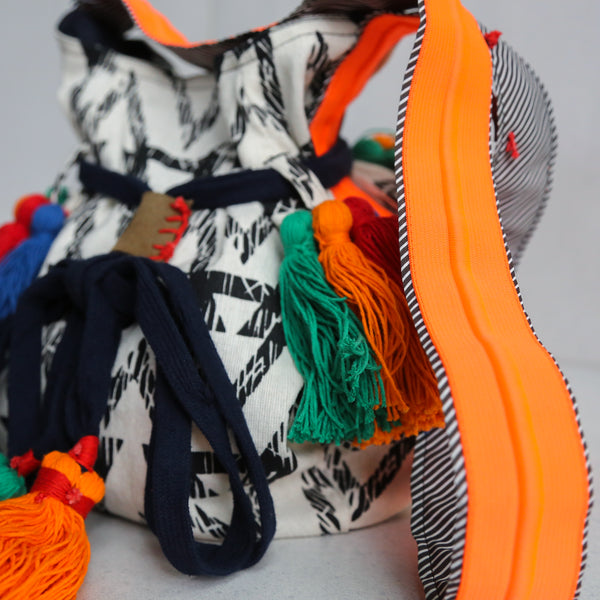 Large Drawstring Bags Orange