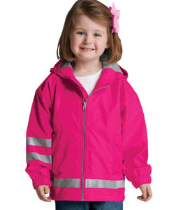 Toddler New Englander Rain Jacket - Hot Pink
