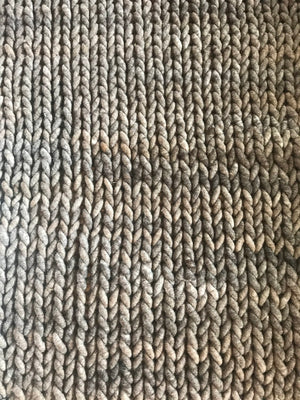 Blanket, Super Chunky Marbled Stockinette Knit