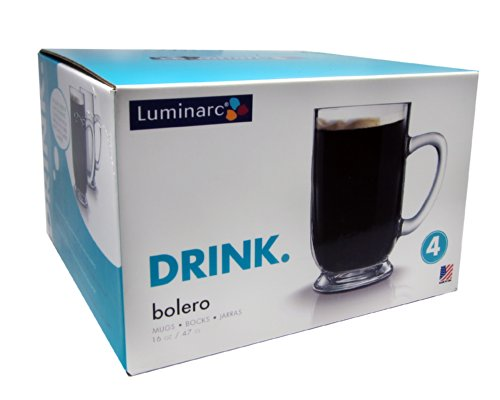 Arc International Luminarc Bolero Mug, 16-Ounce, Set of 4