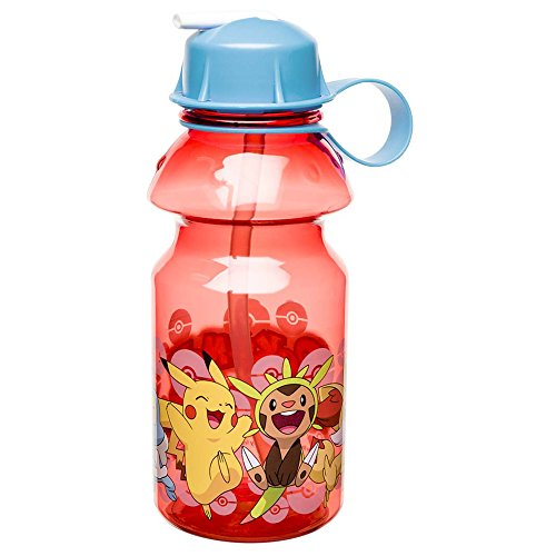 Zak Designs POKC-K870-B Pokemon Water Bottles 14 oz. Pikachu & Chespin