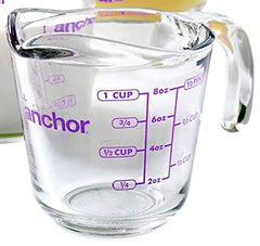 Anchor Hocking 1-Cup Fire King Measuring Cup (1 Cup - Set of 2, Blueberry)
