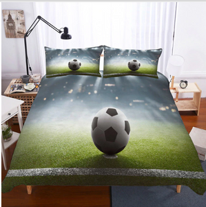 3D Bedding Set football Print Duvet cover set lifelike bedclothes with pillowcase - #1 (5 styles)