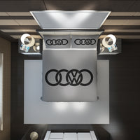 Audi Logo Custom Bedding Set #2(Duvet Cover & Pillowcases)