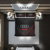 Audi Logo Custom Bedding Set #3(Duvet Cover & Pillowcases)
