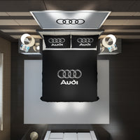 Audi Logo Custom Bedding Set #4(Duvet Cover & Pillowcases)