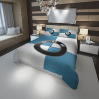 BMW Logo Custom Bedding Set #1(Duvet Cover & Pillowcases)