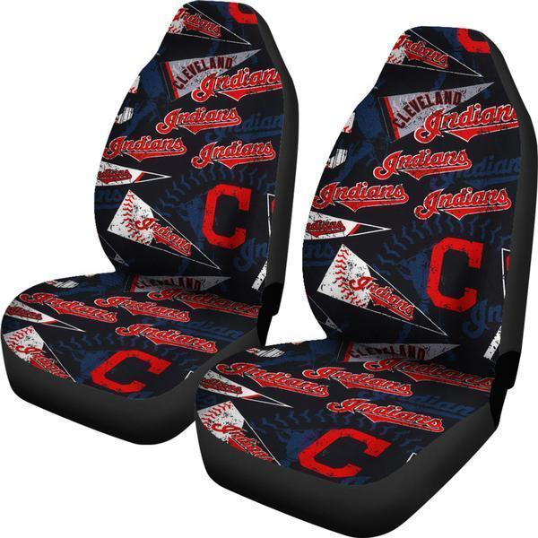 Cleveland Indians (2 Styles) - Car Seat Covers (2pc Set)