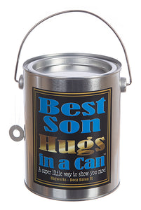 Hugs in a Can Best Son Hugs Hug someone, best gift, best hug message, send hugs, unique gift teddybear hug