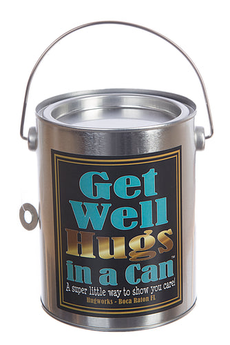 Hugs in a Can Get Well Hugs teddy gram