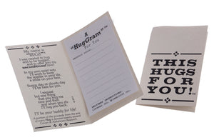 Miss You Hugs in a Can Message Card, Hug-Gram Card Hug For You Hugs in a Can