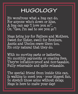 Miss you Hugs in a Can Hugology Hug Poem Hug someone.