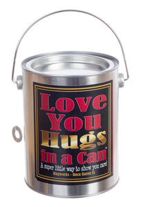 I love You Teddy Bear Hugs in a Can teddy gram.