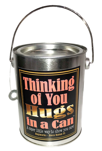 Thinking of You Hugs in a Can, best gift idea, teddy bear hugs in a paint can.