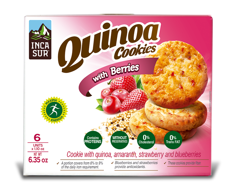 Cookies ´Incasur' Quinoa with Red Fruits x 30gr x 6 units
